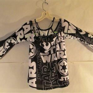 Disney Star Wars Cold Shoulder Top Blouse Large